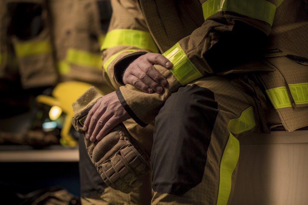 firemans uniform detail
