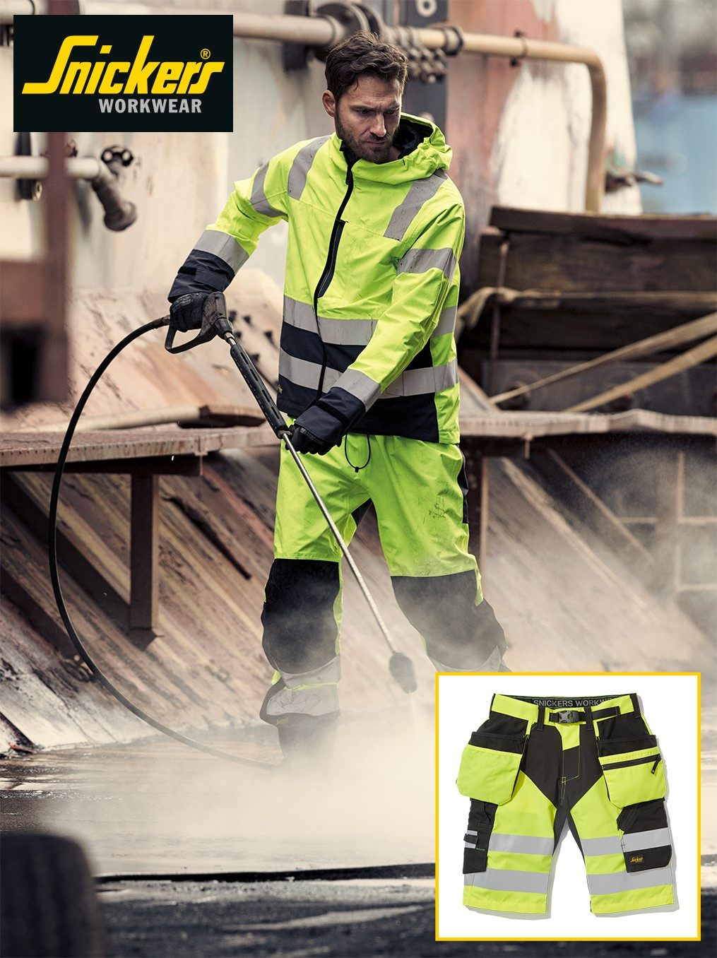 PCIAW - Professional Clothing Industry Association Worldwide | Snickers pairs functionality with comfort for new Hi-Vis Range | Industry News