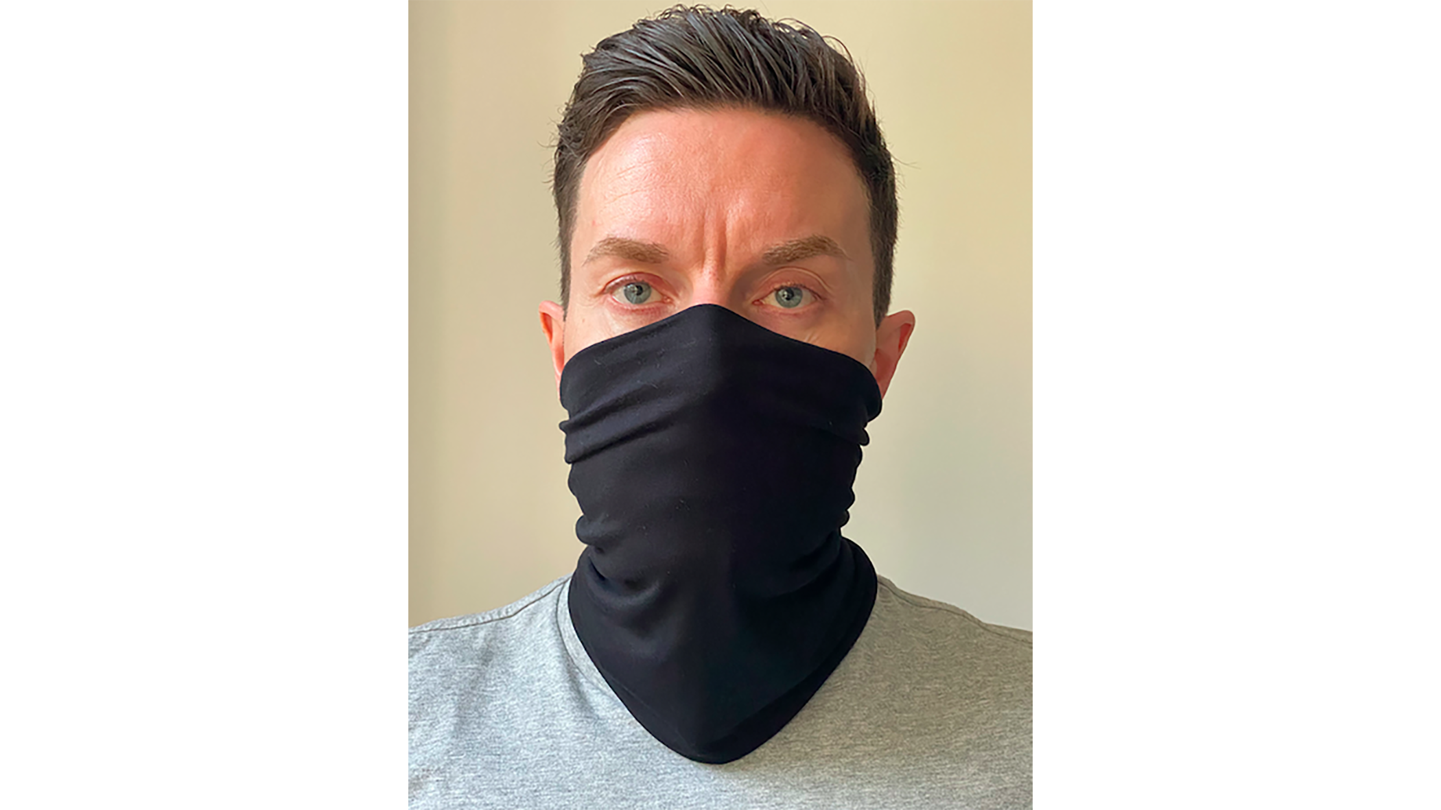 Shield360 has developed a washable snood which is manufactured in the UK