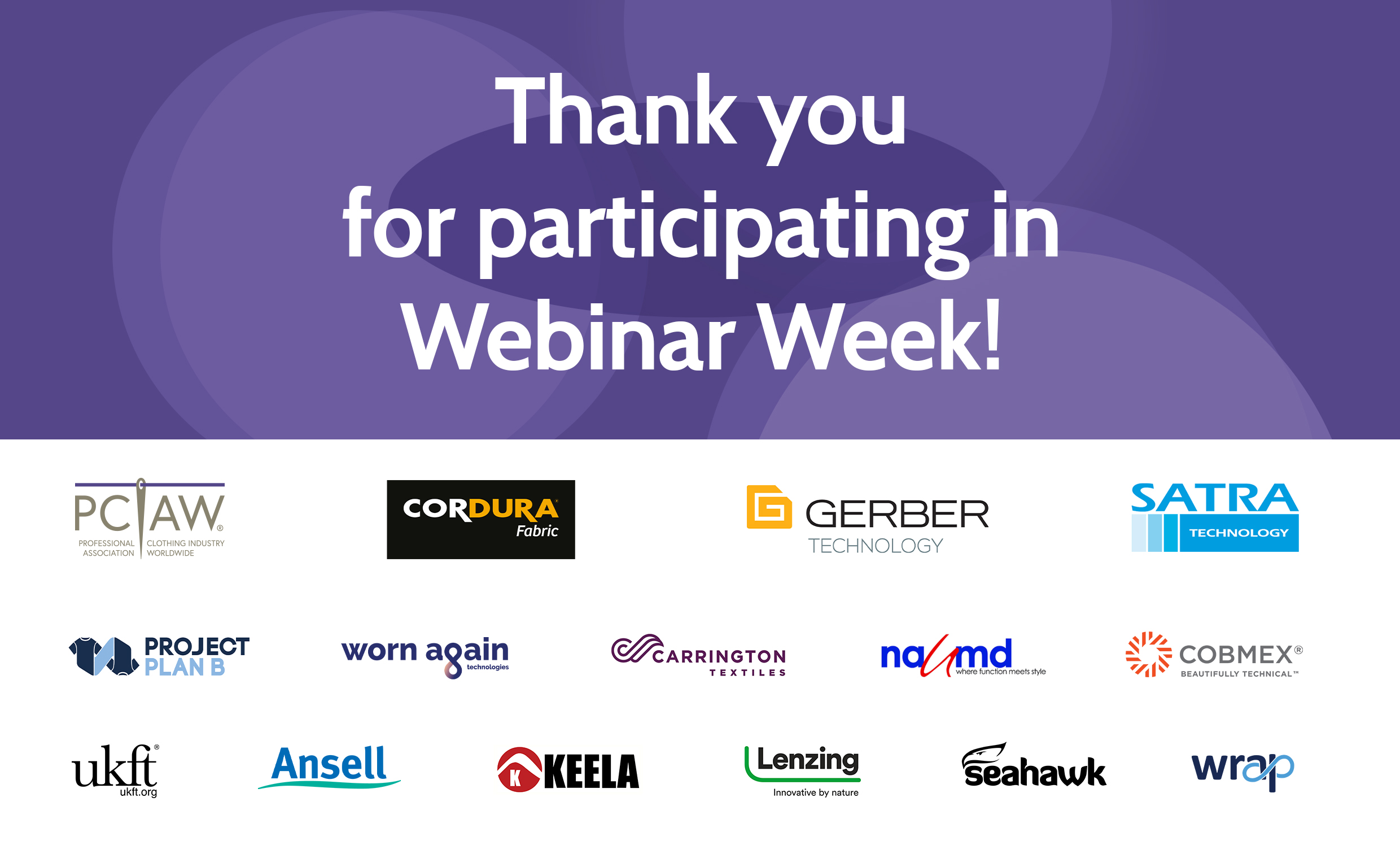 Thank you for participating in Webinar Week