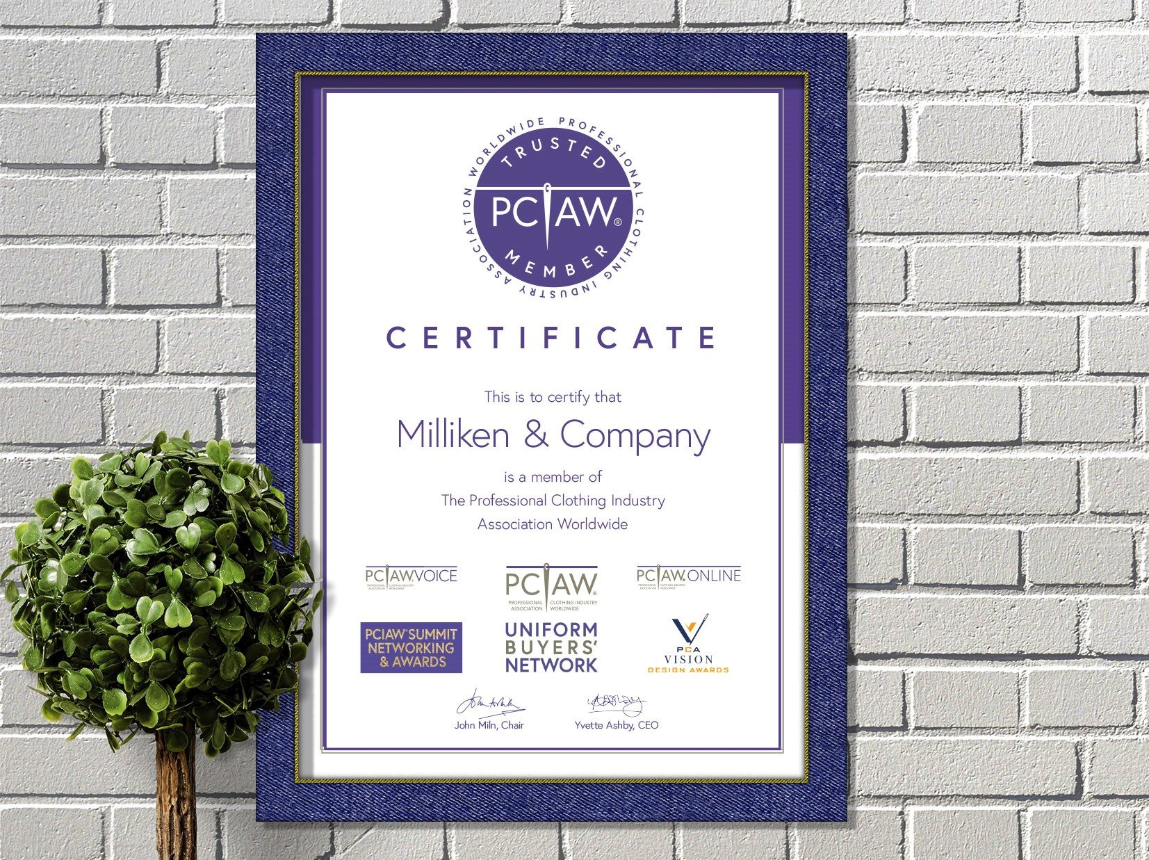 Milliken, a global forerunner in research, design, and manufacturing with expertise in the diverse markets of floor covering, performance and protective textiles, is a proud PCIAW® member and sponsor of the PCIAW® Summit, Networking and Awards 2021.