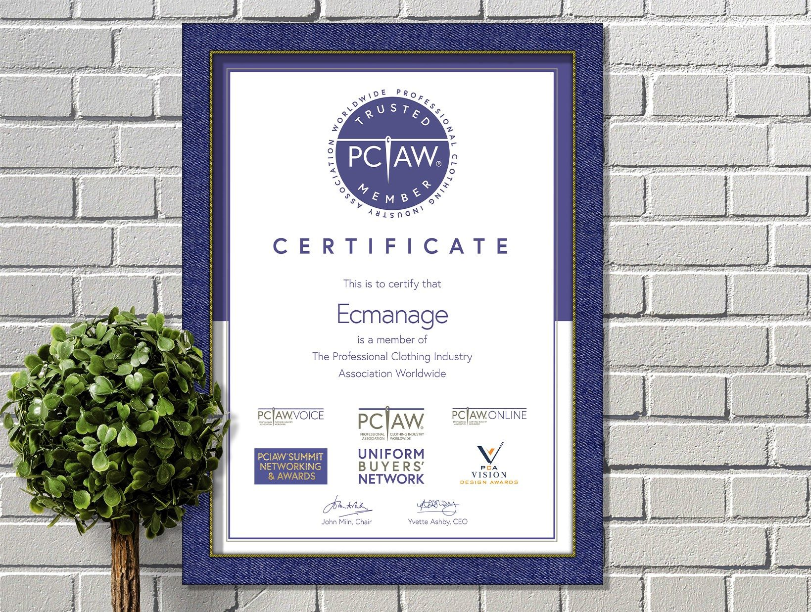 The PCIAW® is pleased to include Ecmanage, a leading wardrobe management system, as a highly esteemed PCIAW® Trusted Member.