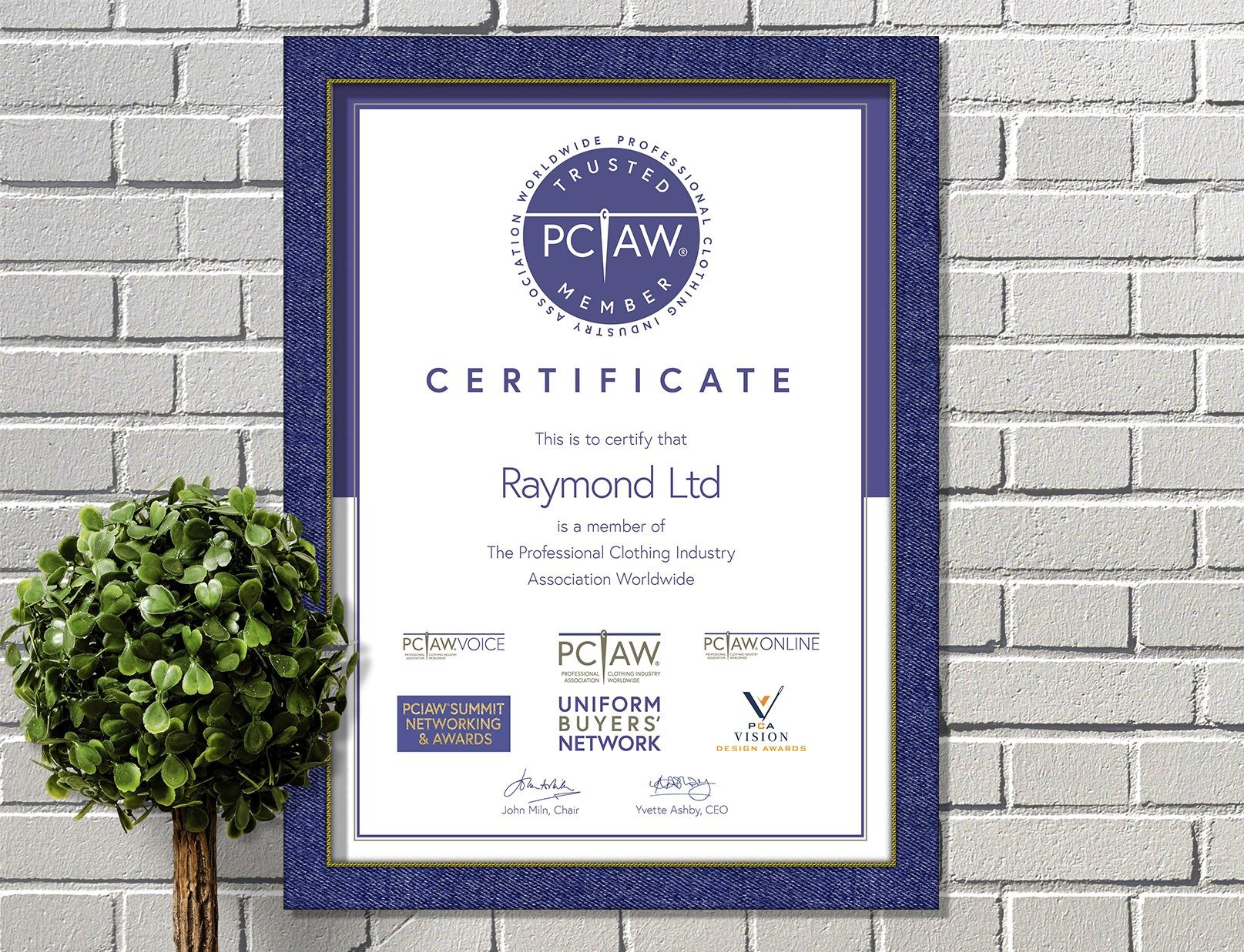 The PCIAW® is pleased to include Raymond Ltd as a PCIAW® Trusted Member and looks forward to extending new opportunities for members by connecting buyers with suppliers for workwear, corporatewear and PPE.