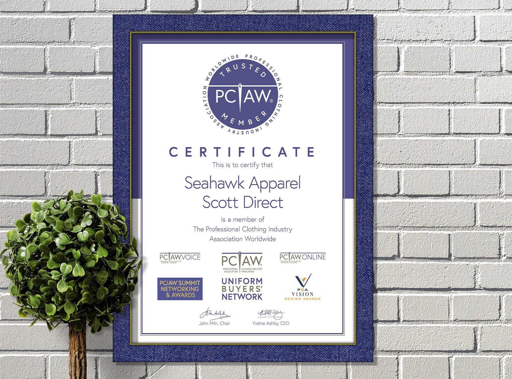 The PCIAW® is pleased to include Seahawk Apparel as a PCIAW® Trusted Member and looks forward to extending new opportunities for members across the professional clothing industry.