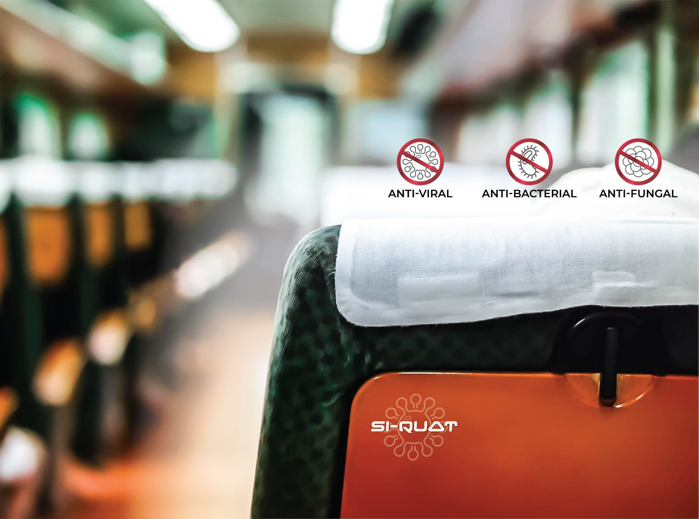 AFFIX Labs' anti-microbial surface coating is being deployed to protect public transport interiors from contagious microbes such as the SARS-COV-2 virus, by Kiel, a global leader in the manufacture of transportation seating