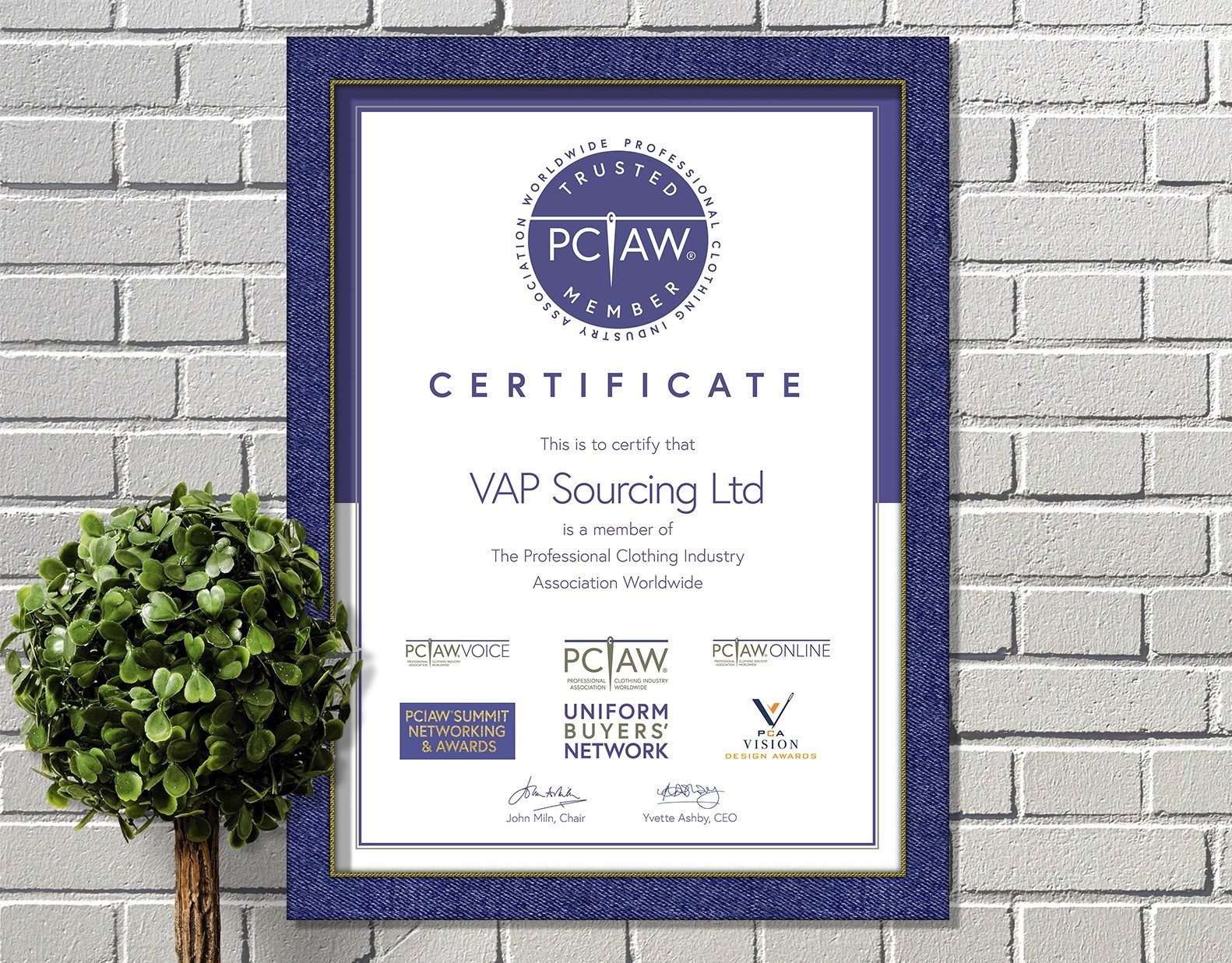 The PCIAW® is proud to have VAP Sourcing Ltd. as a PCIAW® Trusted Member.