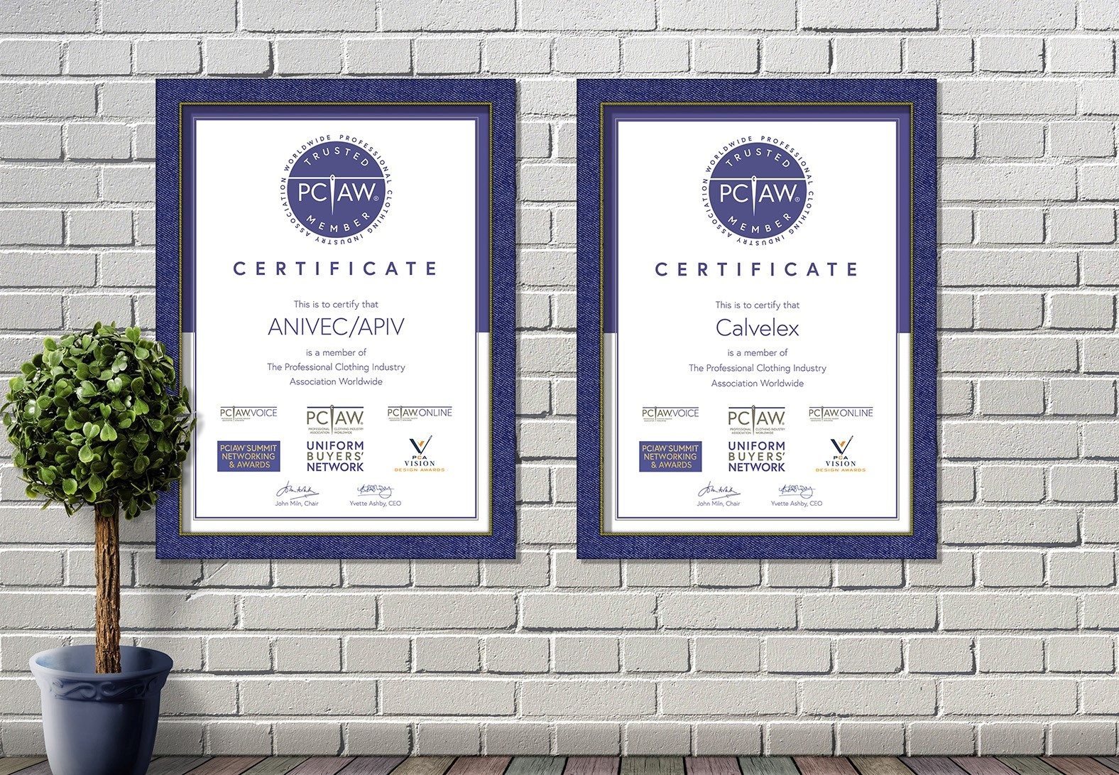 ANIVEC / APIV and Calvelex are pleased to be recognised as PCIAW® Trusted Members.
