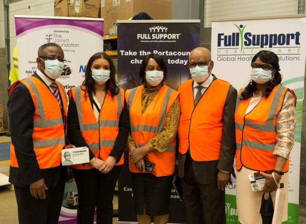 Full Support Healthcare, an international personal protective equipment (PPE) manufacturer has donated 2 million type II face masks to the Jarrett Foundation charity, for distribution in Jamaica.