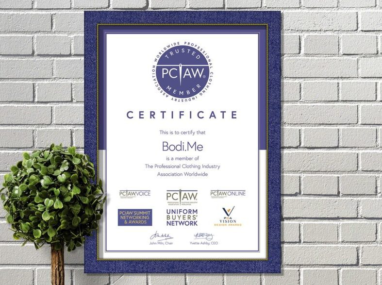 The PCIAW® is proud to announce that Bodi.Me, an expert in clothing size and fit optimisation, is officially a PCIAW® Trusted Member.