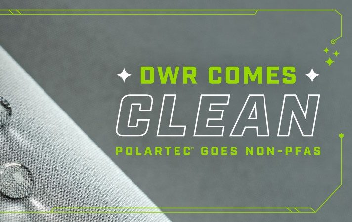 Polartec®, a Milliken & Company brand, and premium creator of innovative and sustainable textile solutions, announces the elimination of PFAS (per- and polyfluoralkyl substances) in its DWR (durable water repellent) treatments across its line of performance fabrics. This non-PFAS treatment, offering zero loss of durability or water repellency, is the latest in Polartec's growing EcoEngineering™ initiative.